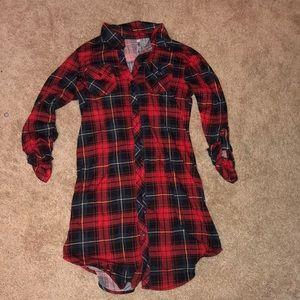 Women's plaid tunic